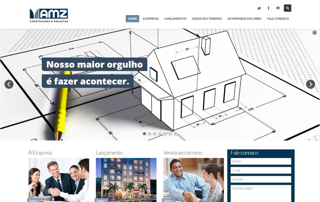 Site AMZ Construções e Projetos - Construção de Imóveis Rio de Janeiro