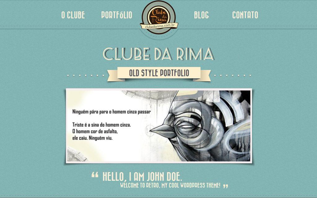 Site Clube da Rima - Escritos, ilustrações, pinturas e colagens