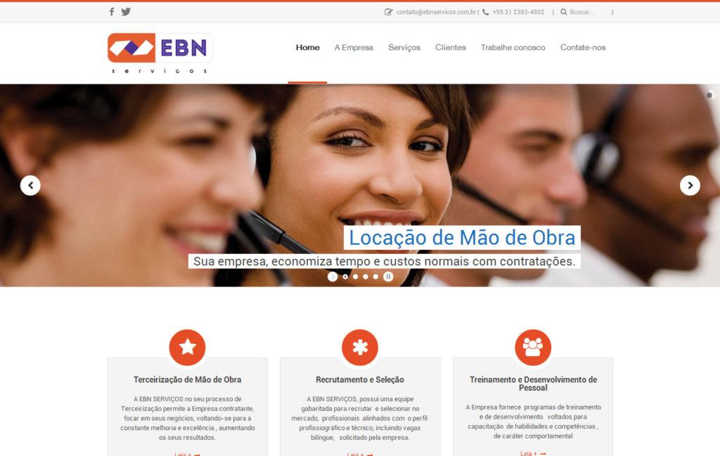 Site EBN Serviços - Uma empresa de terceirização de mão de obra
