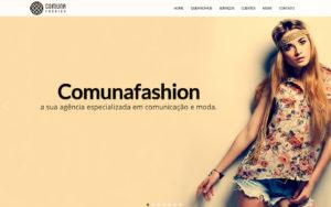 Site Comunafashion - Uma Agência para Modas