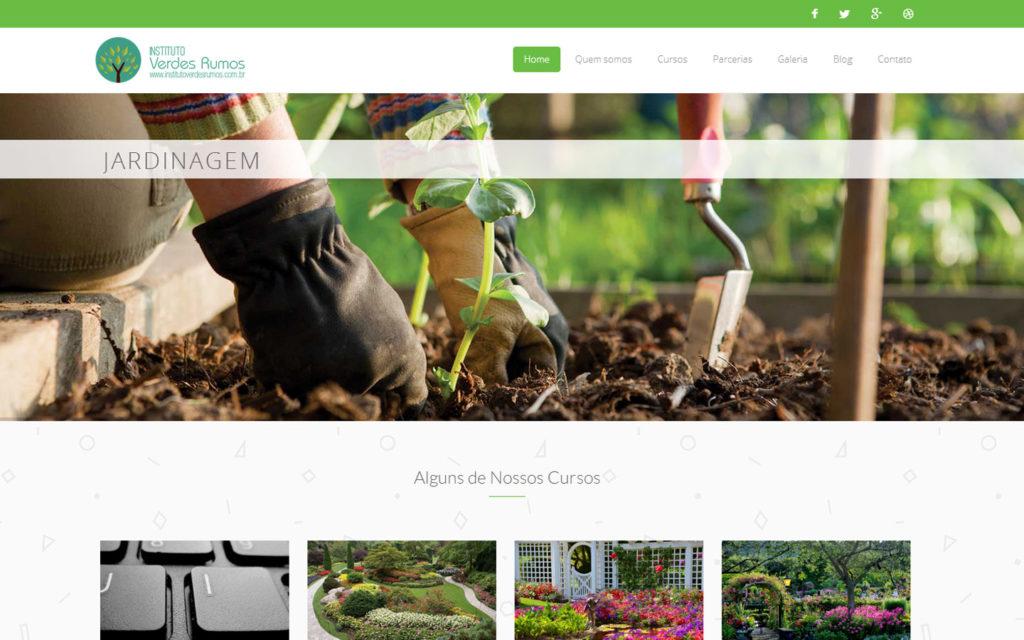 Site Instituto Verdes Rumos - Cursos Ambientalismo Jardinagem