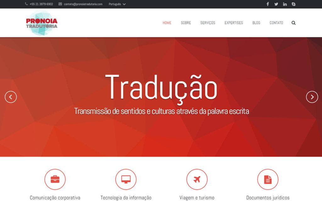 Site Pronoia Tradutoria - Tradução