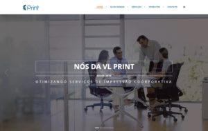 Site VL Print - Empresa do ramo de solução de impressão corporativo
