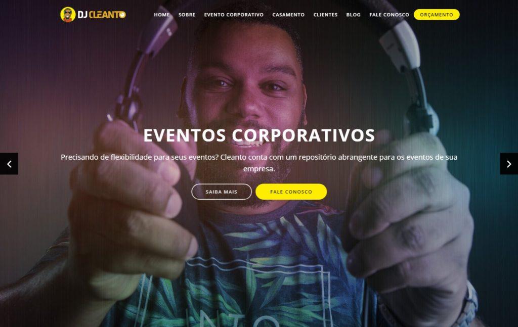 Site DJ Cleanto - DJ de Casamento e Eventos Corporativos