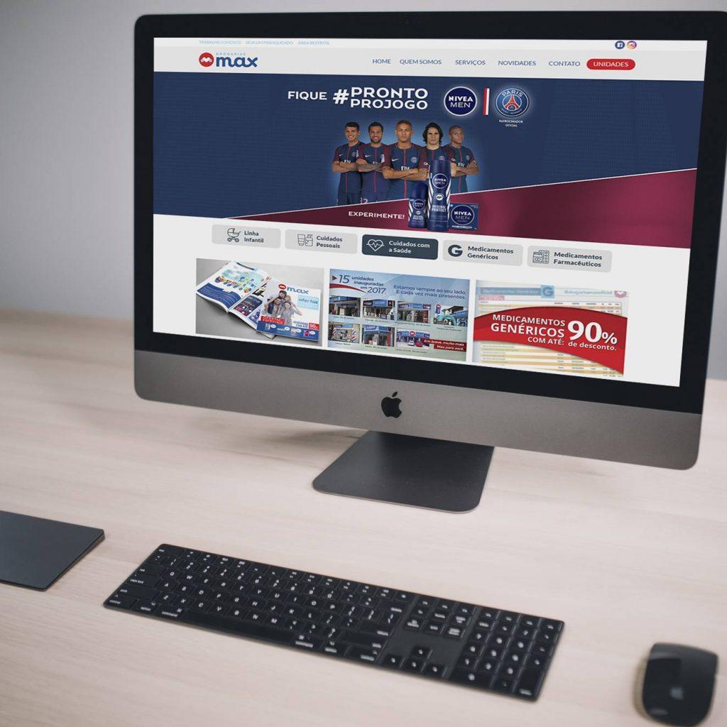 Imagem novo site drogarias max